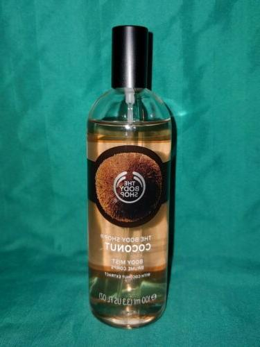 THE BODY SHOP *COCONUT* BODY MIST SPRAY 3.3 fl oz *NEW
