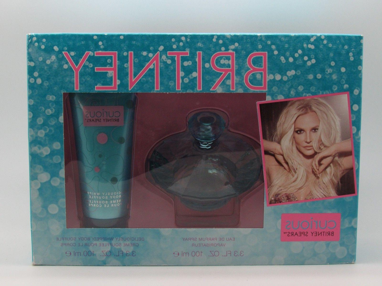 CURIOUS Britney Spears Perfume 2 PC SET 3.3 OZ +  BODY SOUFF