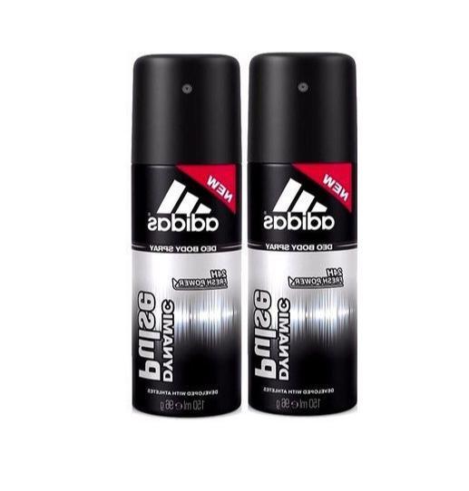 Adidas Deodorant Dynamic Pulse 24h Men Body Spray 5 oz / 150