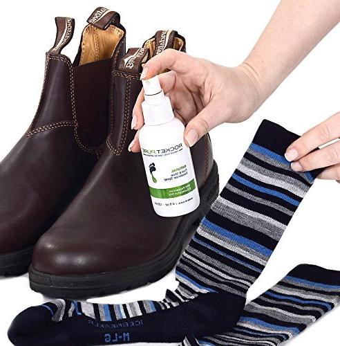 Natural Mint Foot Deodorant Spray. Odor, Stink Caused Bacteria. Spray Insoles, Sneaker Use on Feet or