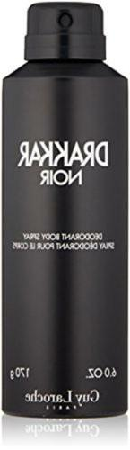 Guy Laroche Drakkar Noir Deodorant Body Spray, 6.0 Oz