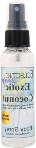 Exotic Coconut Body Spray , 2 ounces