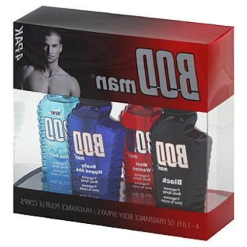 Fragrance Body Spray For Men BOD Man Variety 4 Piece Gift Se