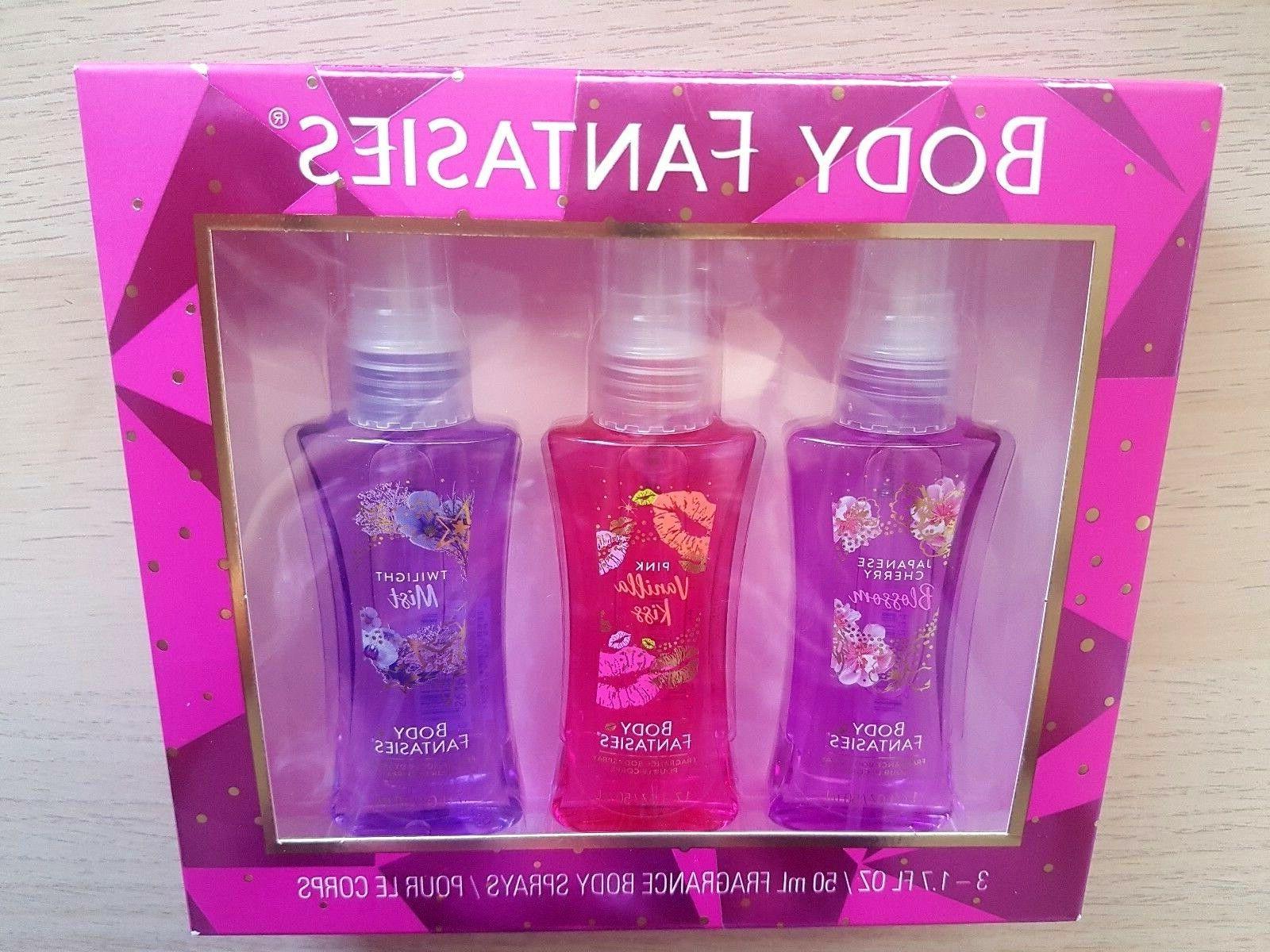 Body Fantasies Fragrance Body Spray Set, 3 ~ 1.7 oz/50 mL Bo