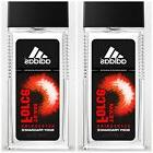 LOT OF 2 ADIDAS DEEP ENERGY BODY FRAGRANCE SPRAY-2.5 FL OZ /
