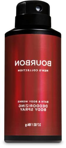 Men's Bourbon ~3.7 oz~ Deodorizing Body Spray Bath & Body Wo