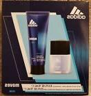 Adidas Moves Him 2 PC Edt  Spray Cologne and Body Wash set