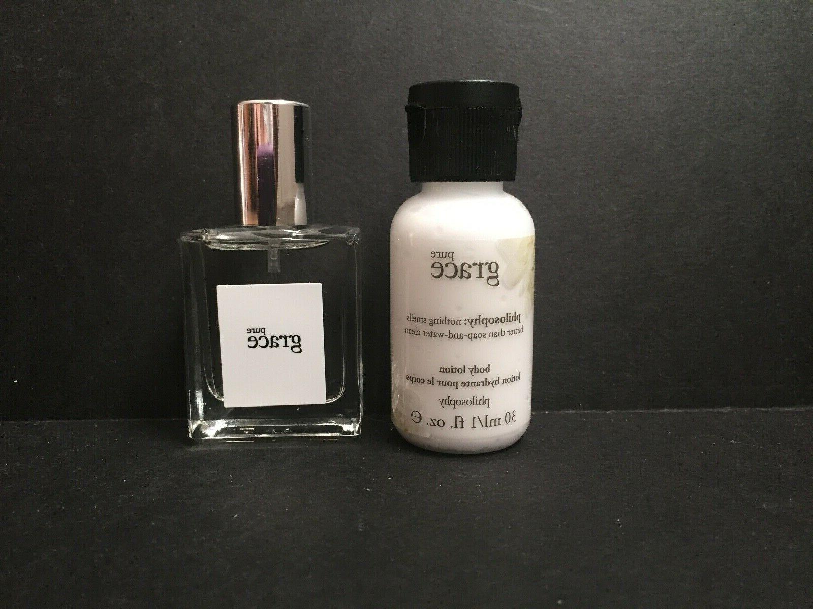 pure grace body lotion and spray fragrance