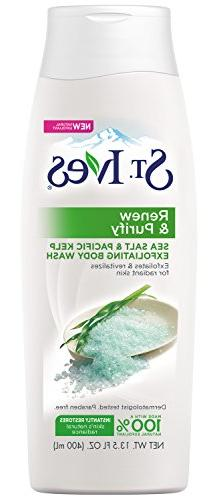 St Ives Body Wash 13.5 Ounce Purifying Sea Salt