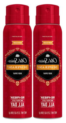 Old Spice Red Collection Body Spray, Desperado, 3.75oz, 2 Pa