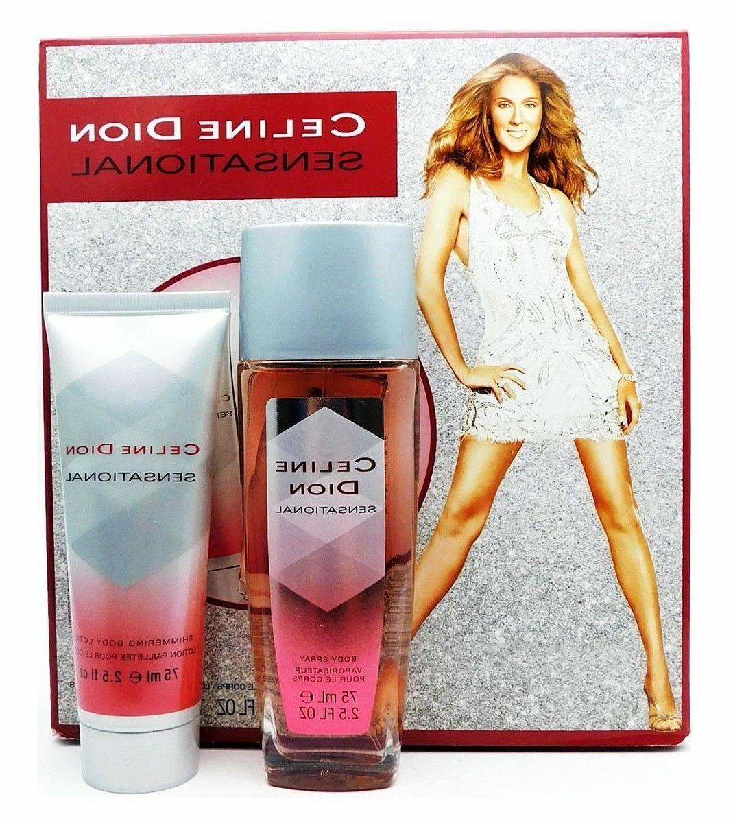 Celine Dion Sensational Set:Body Spray 2.5 Oz Shimmering Bod