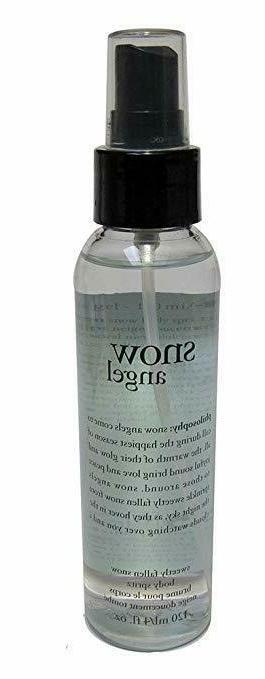 snow angel fragranced body spritz with spray