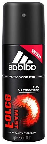 Adidas Team Force Fresh Boost Deo Body Spray for Men, 5 Ounc