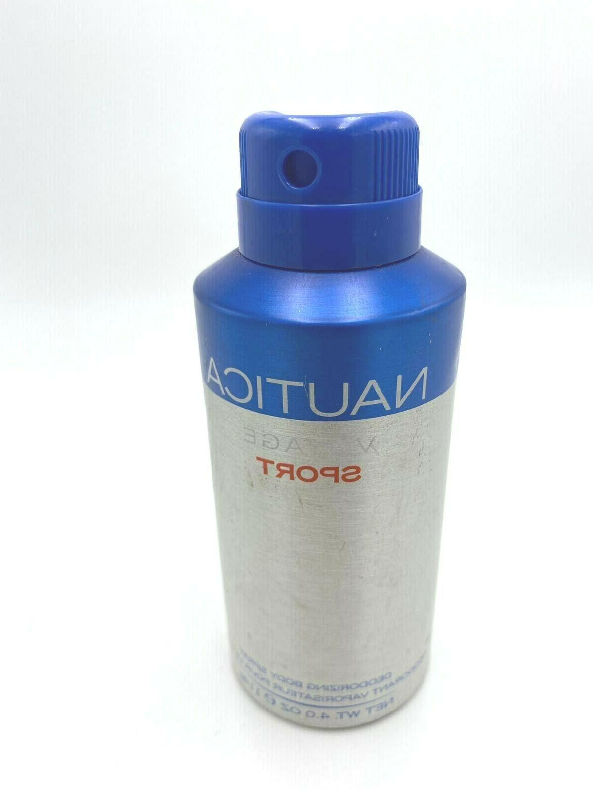 Nautica Voyage Sport Body Spray 4.0 oz 114 g