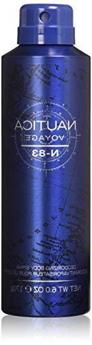 Nautica Voyage N-83 Body Spray, 6 Fluid Ounce