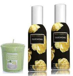 Bath and Body Works 2 Pack Limoncello Room Spray 1.5 Oz. & V