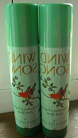 Lot 2 Wind Song Body Spray By Prince Matchabelli  2.5oz. Eac
