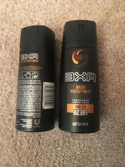 Lot of  4oz Axe Daily Fragrance Dark Temptation Body Spray N