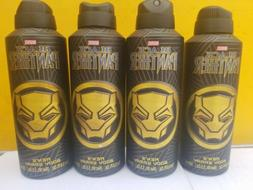 *lot of 4 Marvel Black Panther Men's Body Spray, Black and G