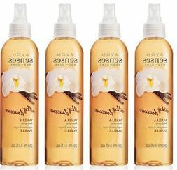 LOT OF 4 Avon senses SILKY Vanilla Body Spray 8.4oz  fast SH