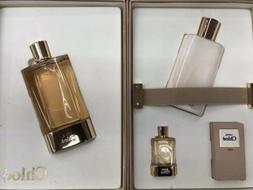LOVE CHLOE 3 PIECES GIFT SET 2.5 oz EDP Spray + 3.4 oz Body