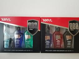 BOD Man 3 Pak Fragrance Body Spray Set - 2 Sets - Total of 6