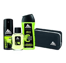 Adidas Mens Gift Set Pure Game 4 Piece Bag Cologne Body Spra