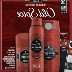 NEW Old Spice Swagger Gift Box Set Body Wash Spray Anti-Pers