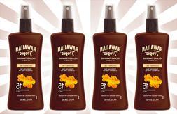 Hawaiian Tropic Protective Dry Oil Sunscreen Spray Pump SPF