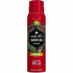 Old Spice Re-Fresh Fresher Collection Timber Body Spray, 3.7