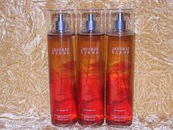 Bath & Body Works ~ Sensual Amber 8 Oz Body Mist ~ LOT of 3