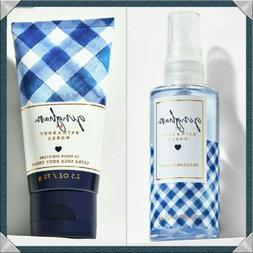 SET 2 BATH & BODY WORKS GINGHAM FRAGRANCE MIST/BODY SPRAY, S