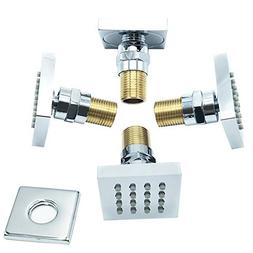 Bilu-hose Shower Spa Brass Square Massage Jets Spray Body Sh