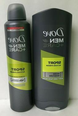 Dove Sport Active & Fresh 250 ml Spray & Body & Face Wash Ge