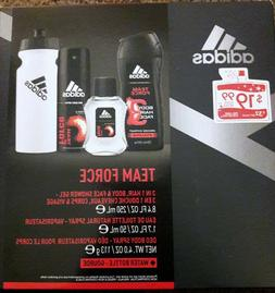 "ADIDAS ""TEAM FORCE"" GIFT SET--BODY SPRAY-EAU DE TOILETTE-SHO"