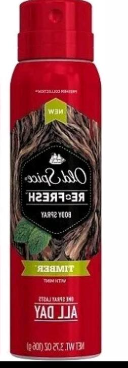 Old Spice Timber Body Spray Re-Fresh