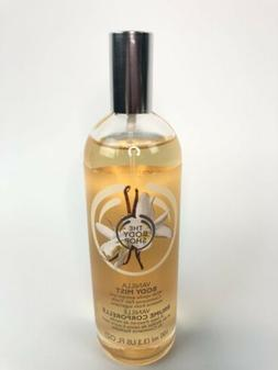 The Body Shop Vanilla Body Mist Spray 3.3oz Original Glass B