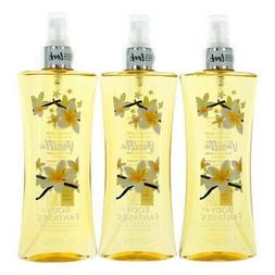 Vanilla by Body Fantasies, 3 Pack 8 oz Fragrance Body Spray