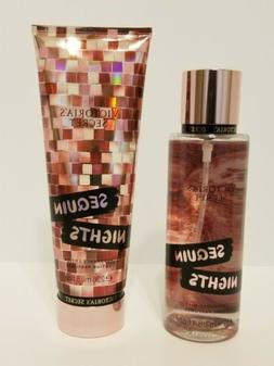 Victoria Secret  SEQUIN NIGHTS Set. Body Spray & Lotion