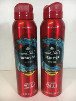 Old Spice Wild Collection Hawkridge Re-Fresh Body Spray, 3.7